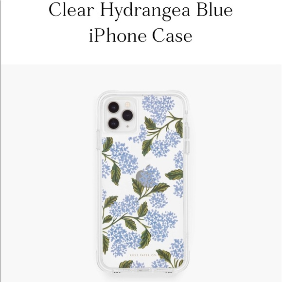 Rifle Paper Co. Clear Hydrangea Blue iPhone Case